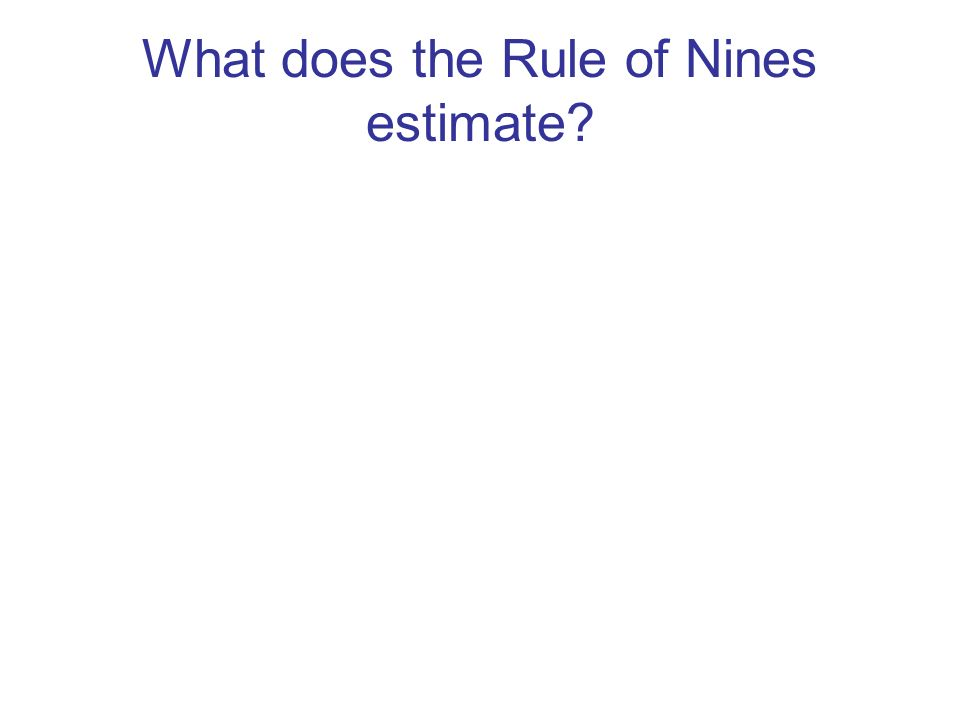 What does the Rule of Nines estimate