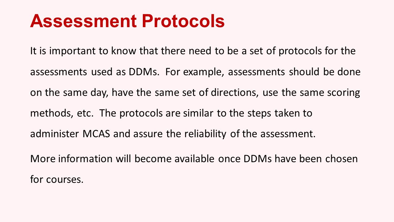 Assessment Protocols