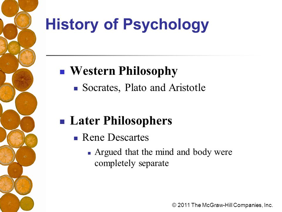History of Psychology Western Philosophy Later Philosophers