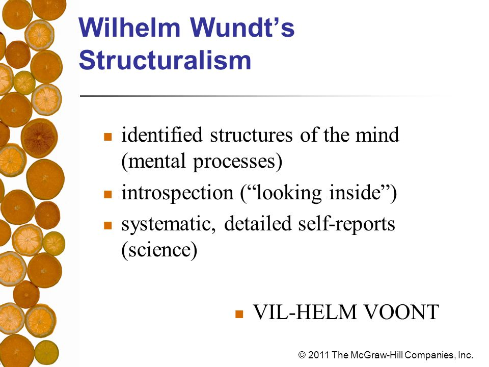 Wilhelm Wundt's Structuralism