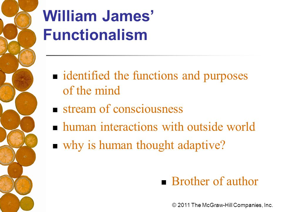 William James' Functionalism
