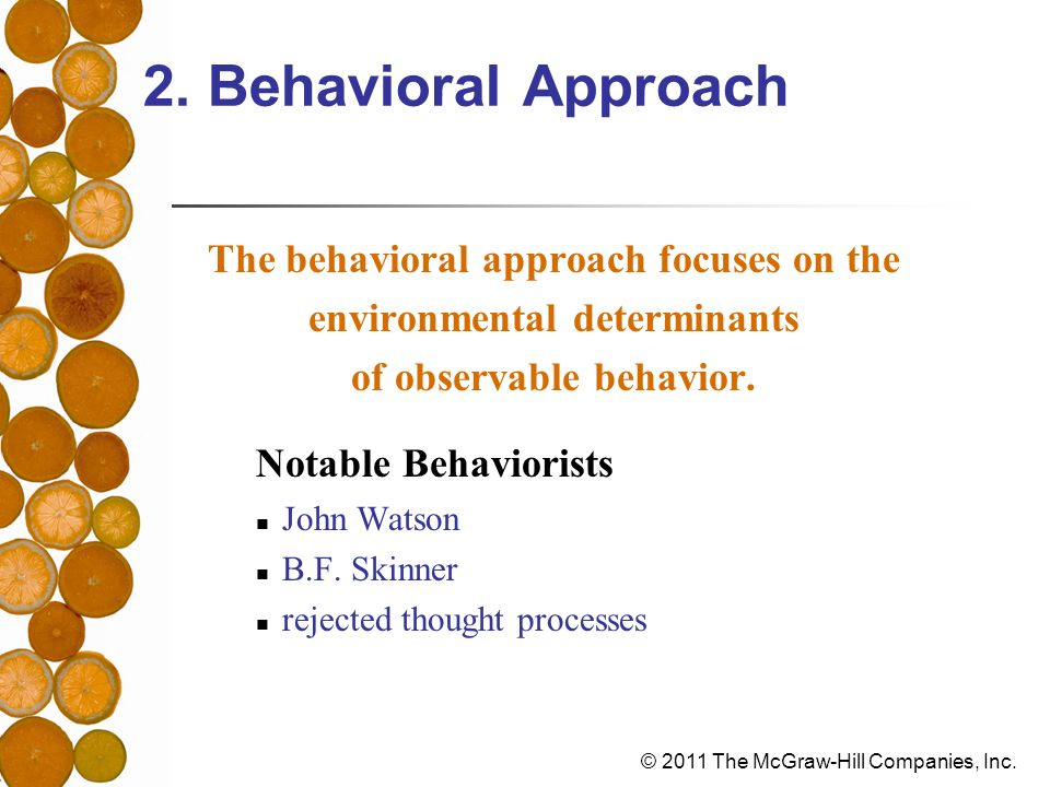 2. Behavioral Approach Notable Behaviorists