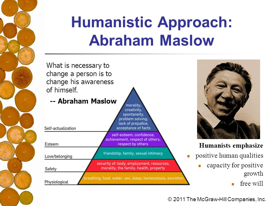 Humanistic Approach: Abraham Maslow