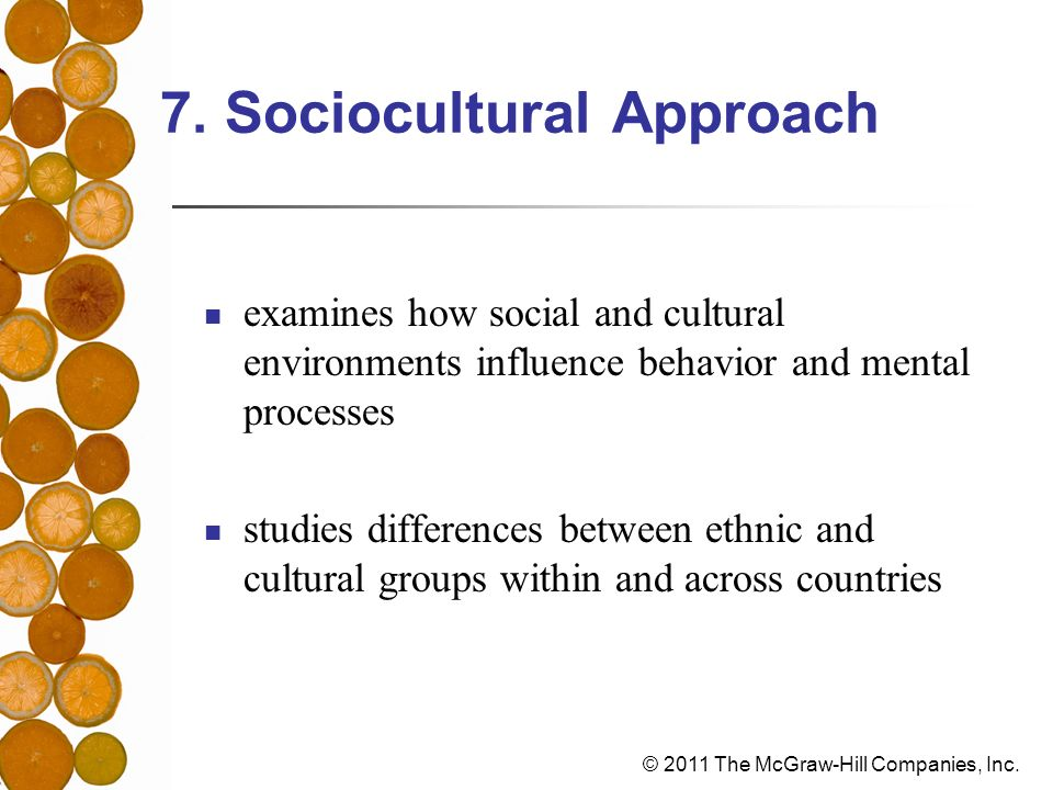 7. Sociocultural Approach