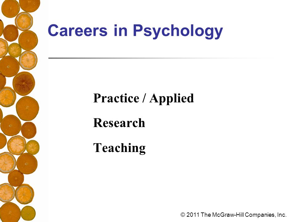 Careers in Psychology Practice / Applied Research Teaching