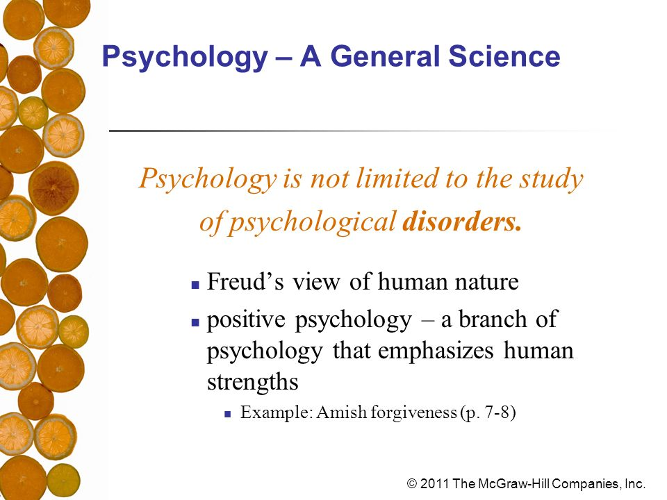 Psychology – A General Science