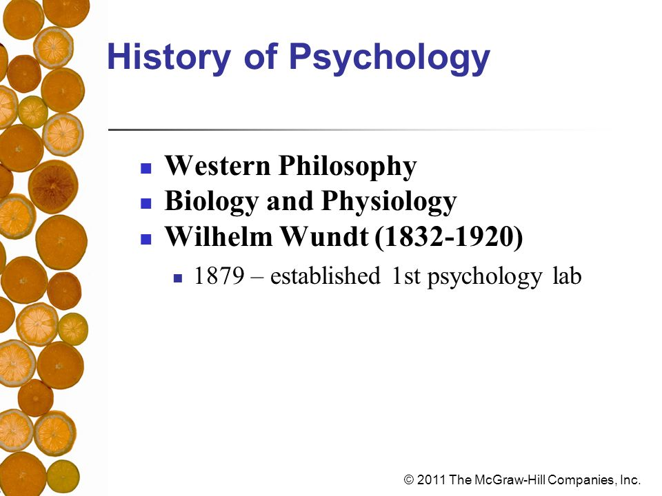 History of Psychology Western Philosophy Biology and Physiology