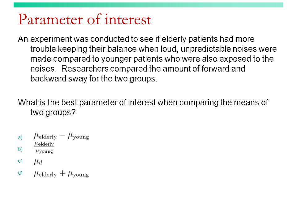 Parameter of interest