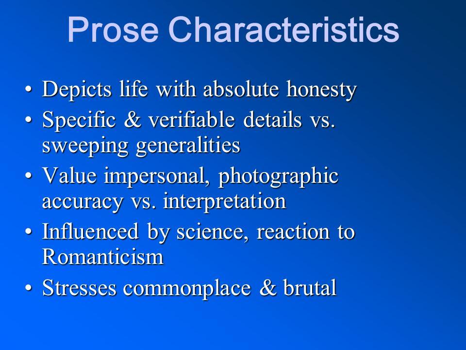 Prose Characteristics