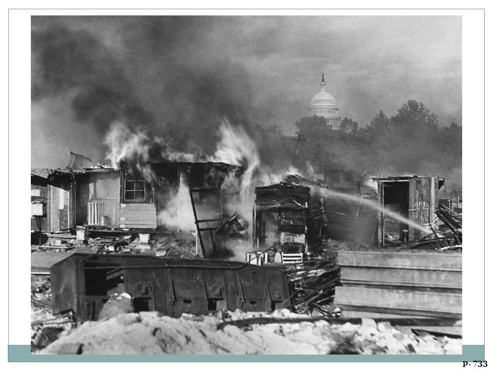 BURNING SHANTIES OF BONUS MARCHERS, WASHINGTON, D. C