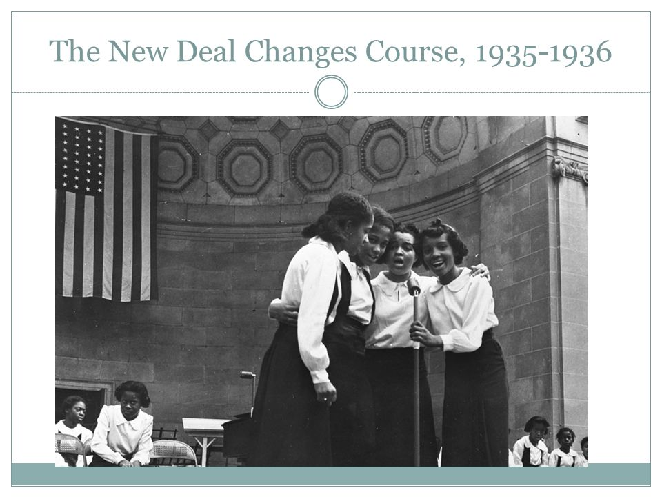 The New Deal Changes Course, 1935-1936