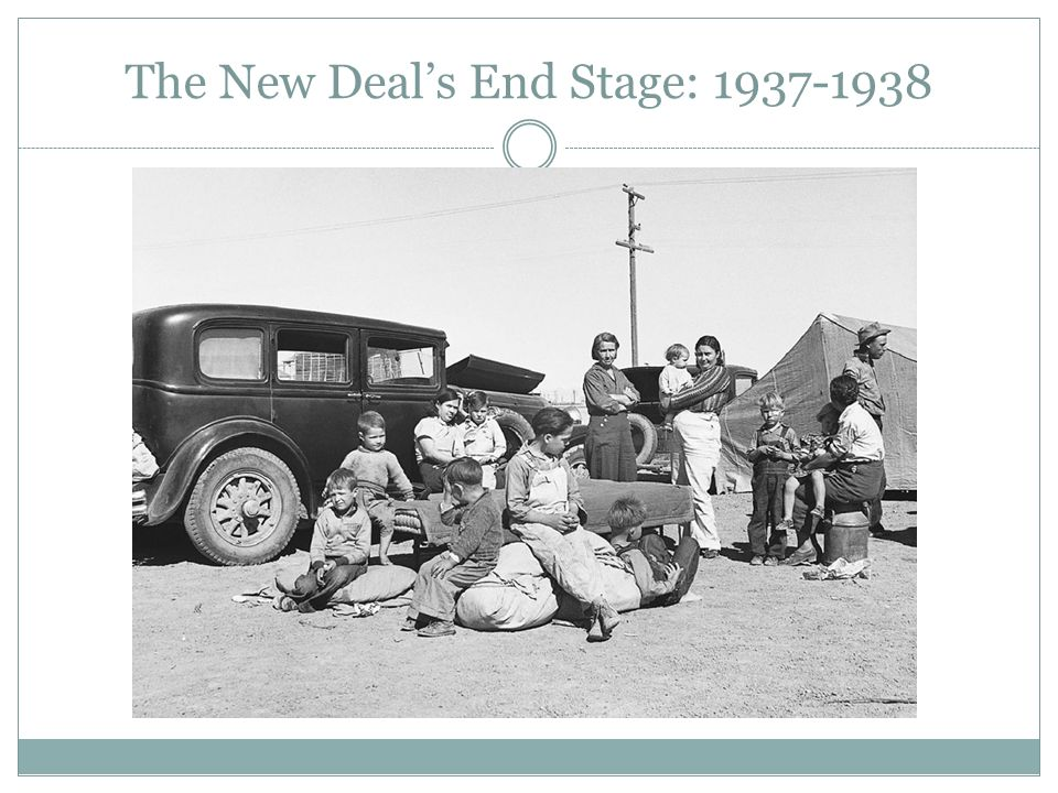 The New Deal's End Stage: 1937-1938
