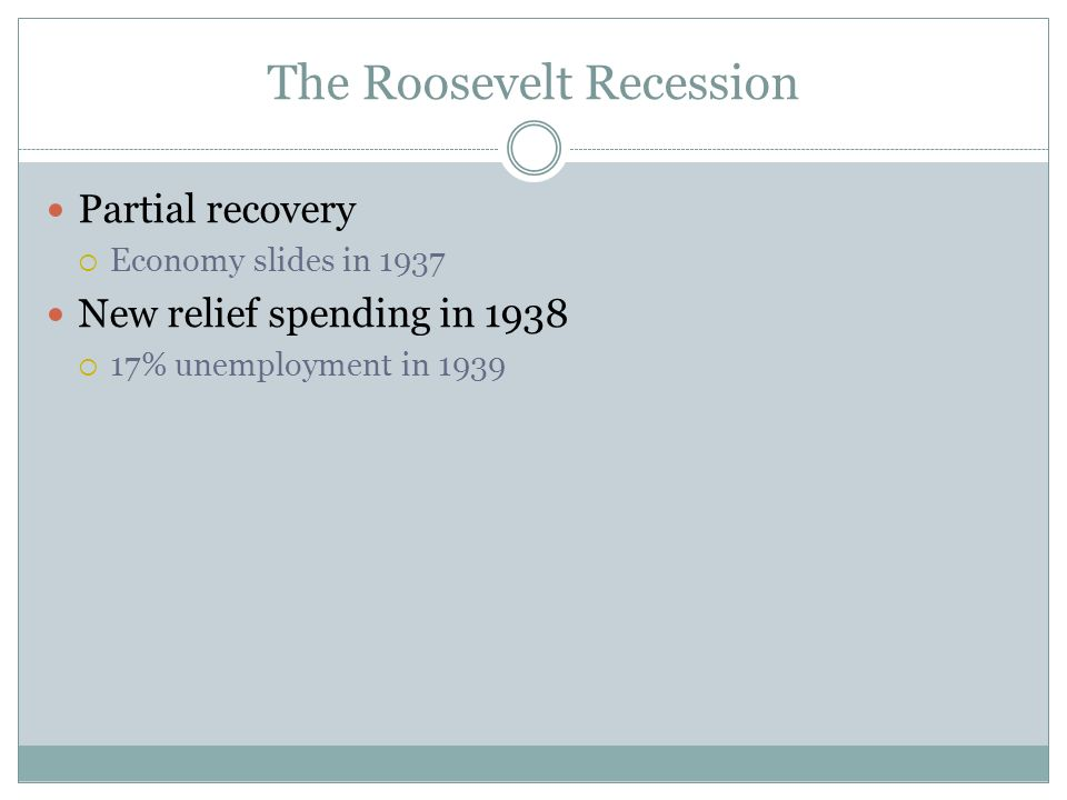 The Roosevelt Recession