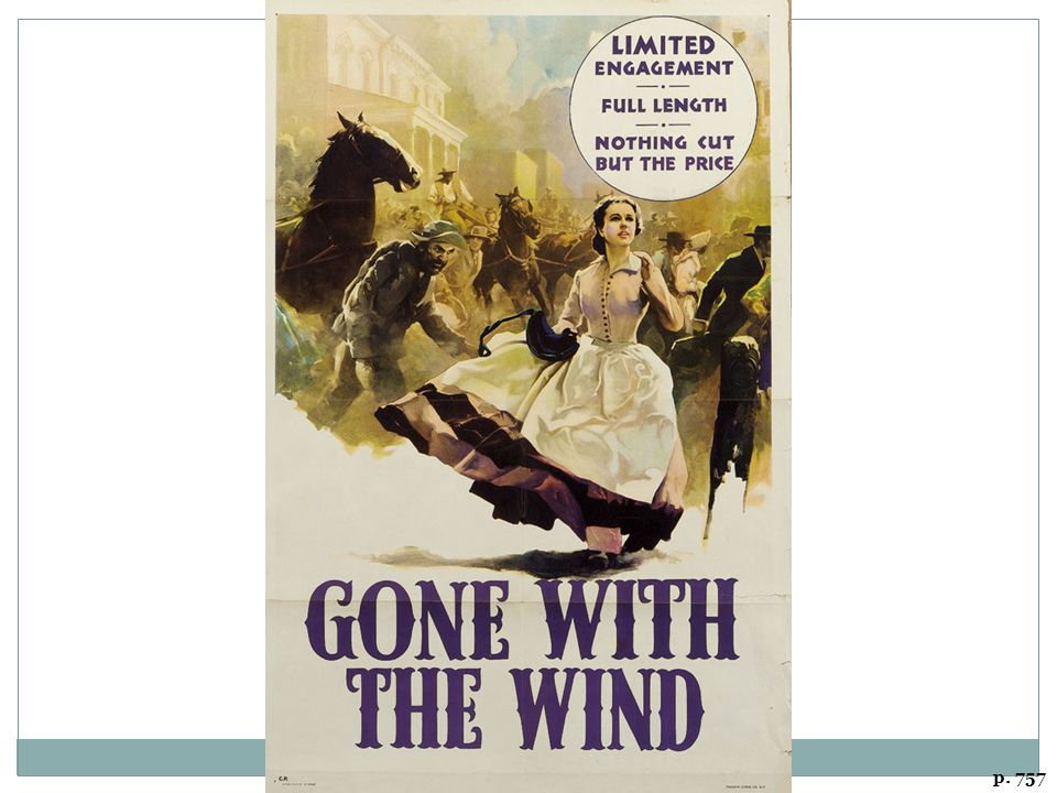 GONE WITH THE WIND (1939) An early triumph of the new technology of color film.