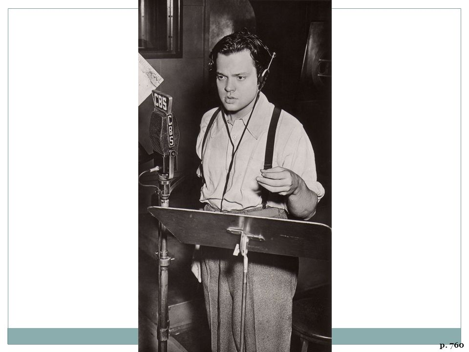 ORSON WELLES DIRECTS WAR OF THE WORLDS CBS radio's dramatization of an invasion from Mars in October 1938 terrified many listeners already jittery over worsening world conditions.