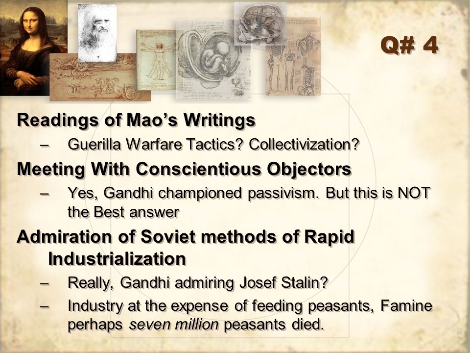 Q# 4 Readings of Mao's Writings Meeting With Conscientious Objectors