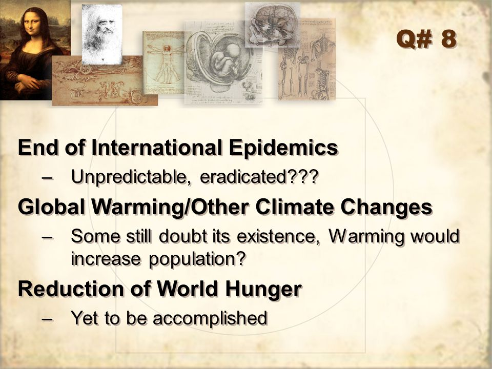 Q# 8 End of International Epidemics