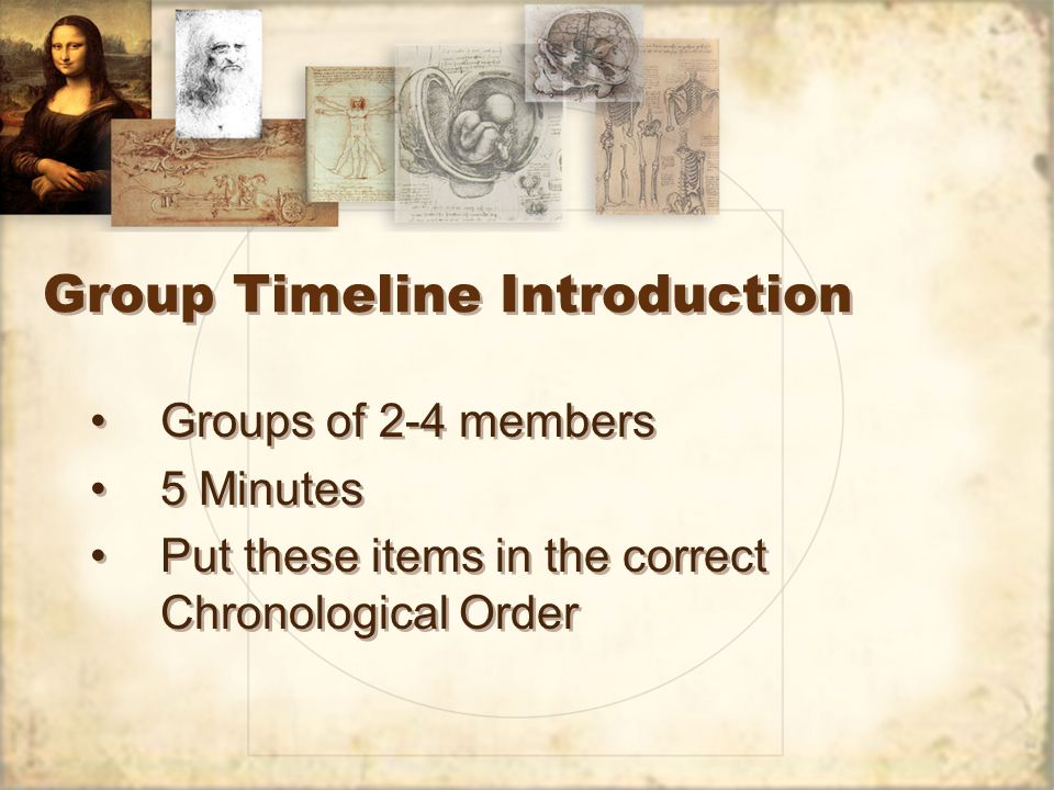 Group Timeline Introduction