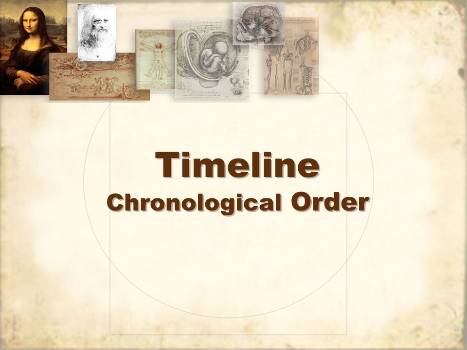 Timeline Chronological Order