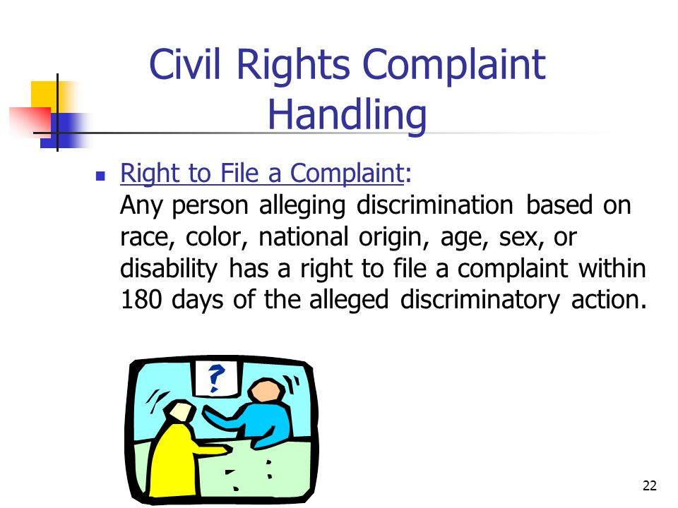 Civil Rights Complaint Handling
