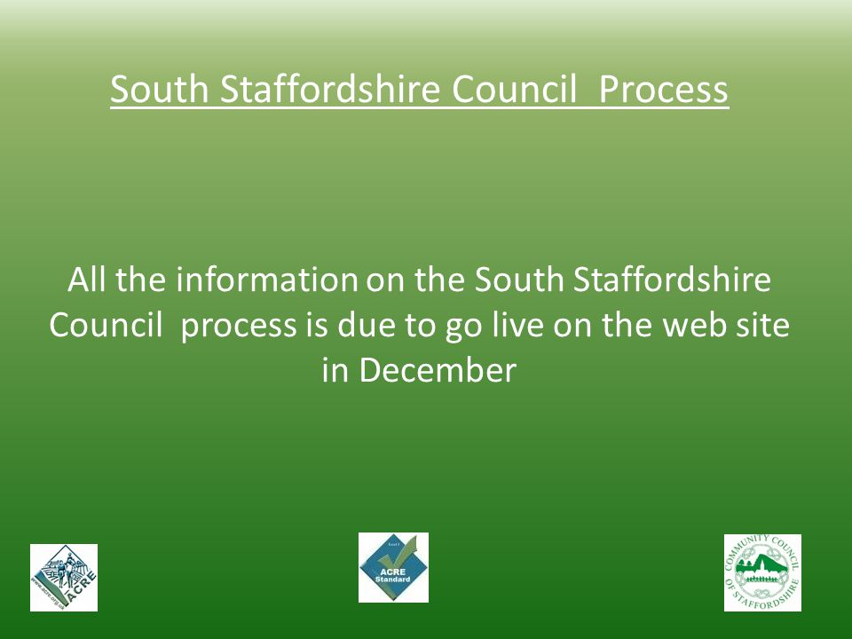 South Staffordshire Council Process