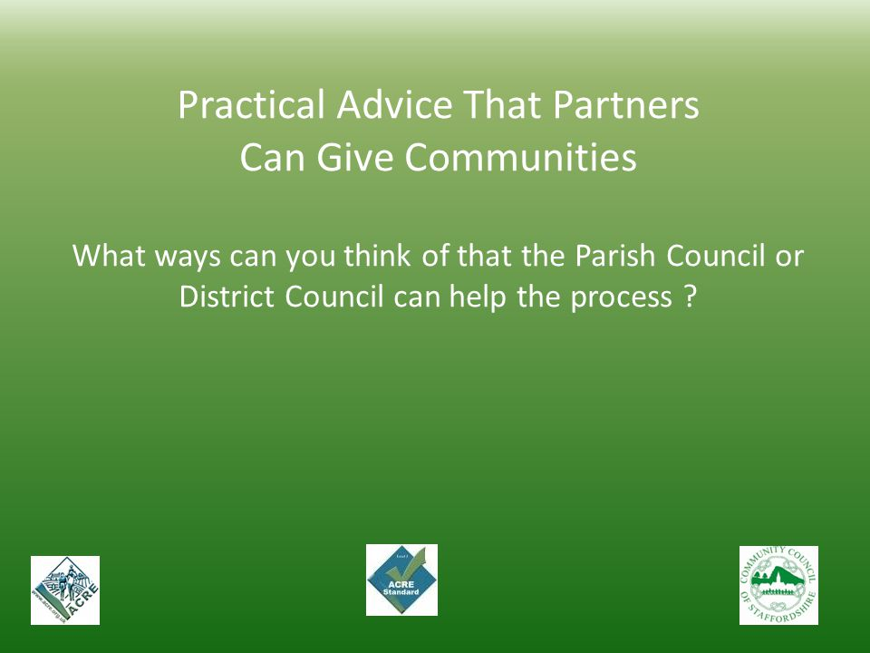 Practical Advice That Partners