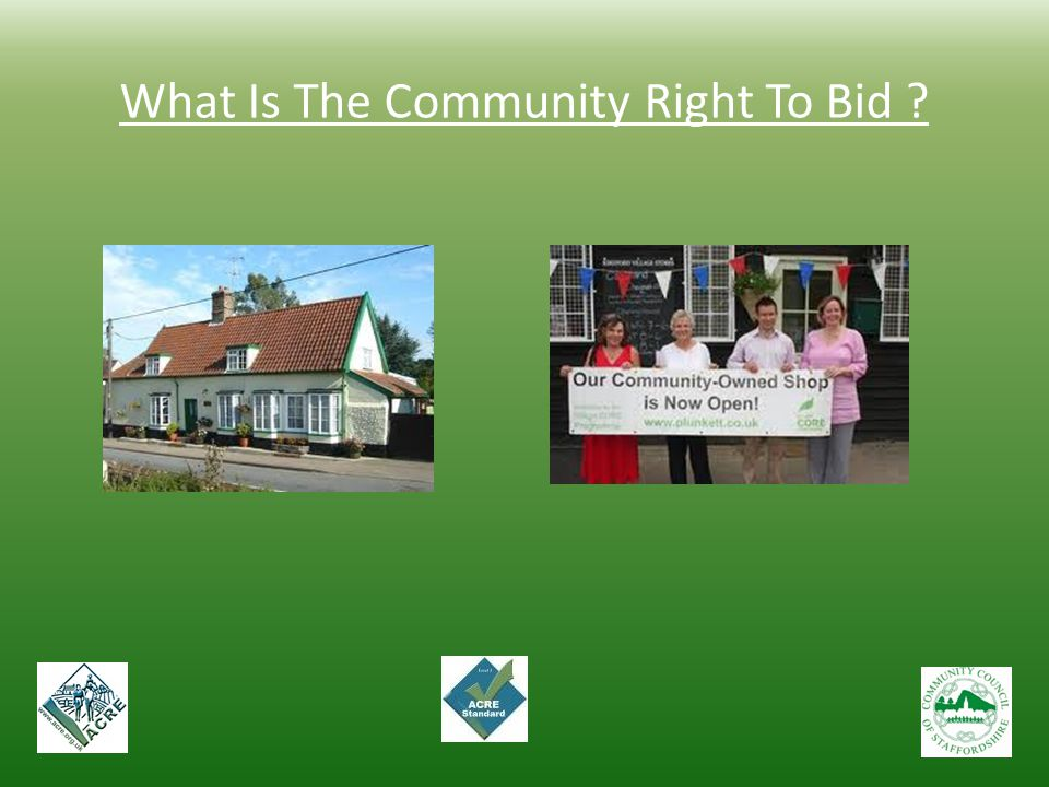 What Is The Community Right To Bid