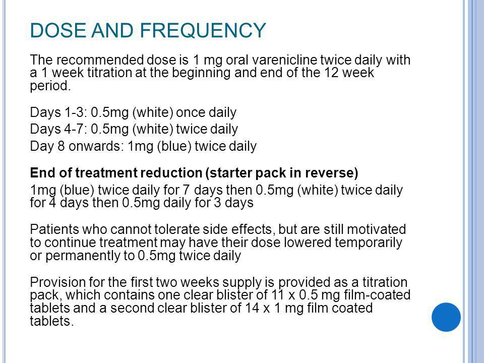 DOSE AND FREQUENCY