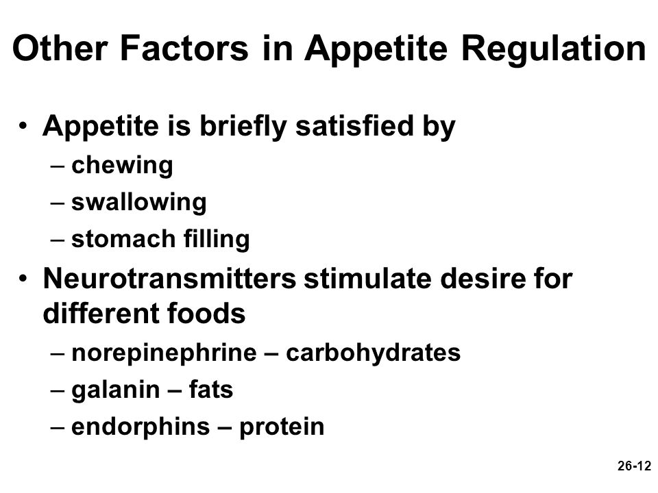 Other Factors in Appetite Regulation