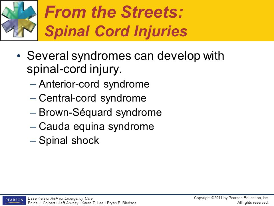 From the Streets: Spinal Cord Injuries