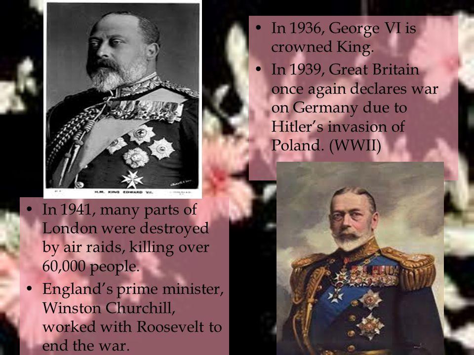 In 1936, George VI is crowned King.