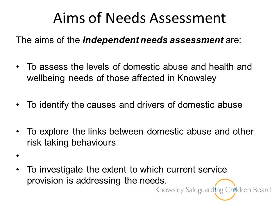 Aims of Needs Assessment