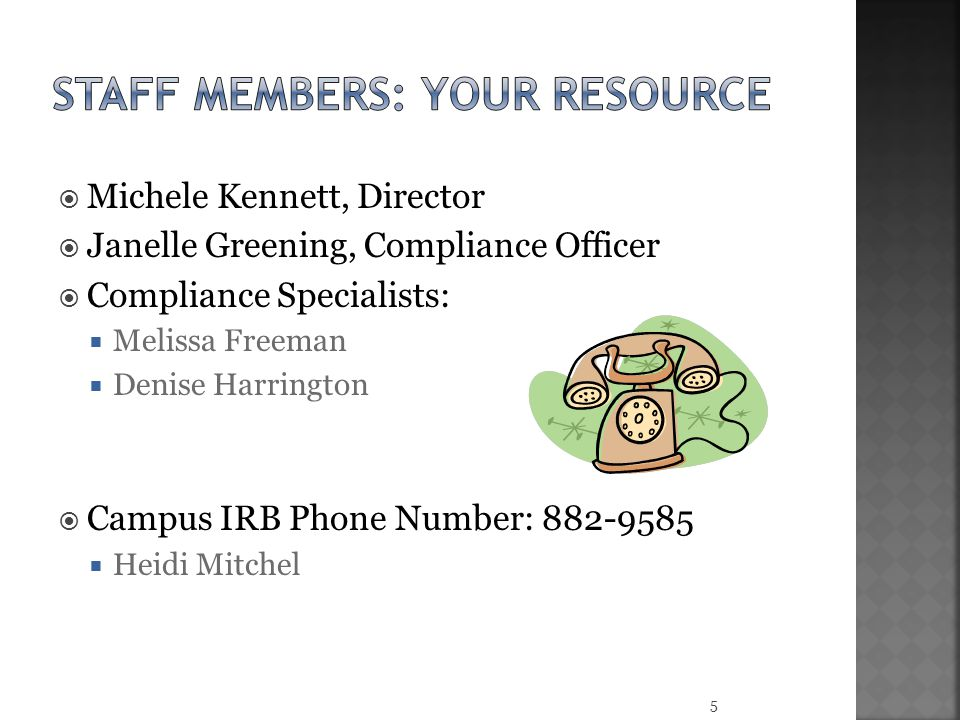 Staff members: Your resource