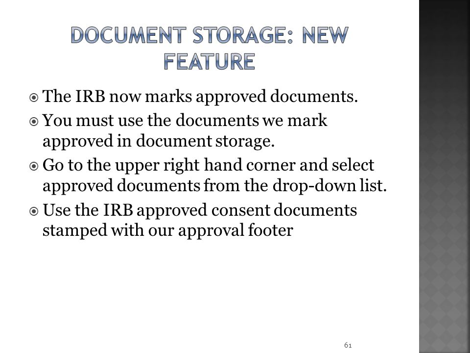 Document storage: new feature