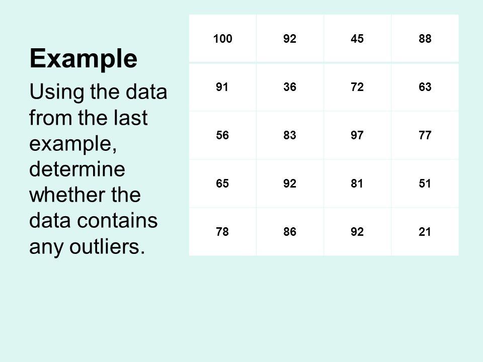 Example 100. 92. 45. 88. 91. 36. 72. 63. 56. 83. 97. 77. 65. 81. 51. 78. 86. 21.