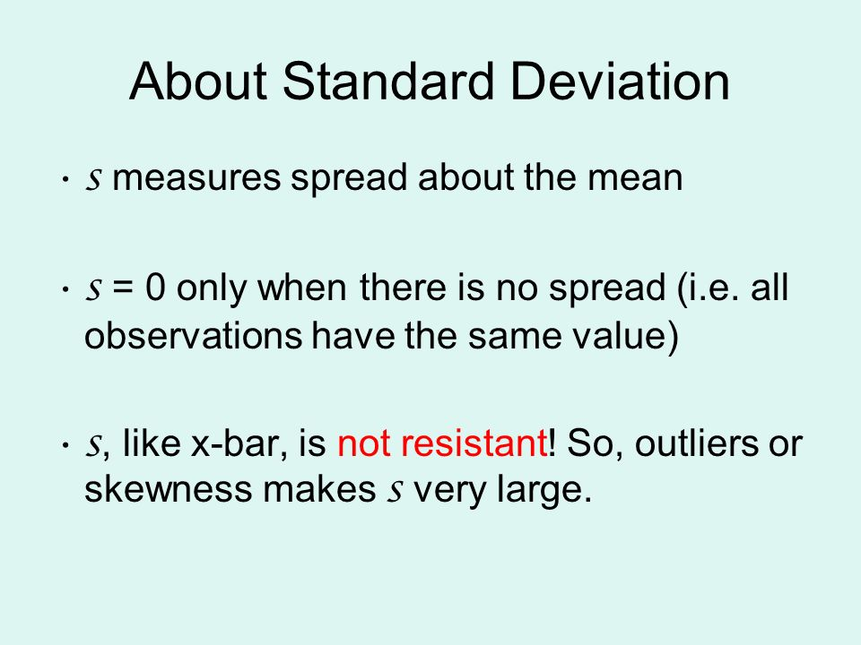 About Standard Deviation