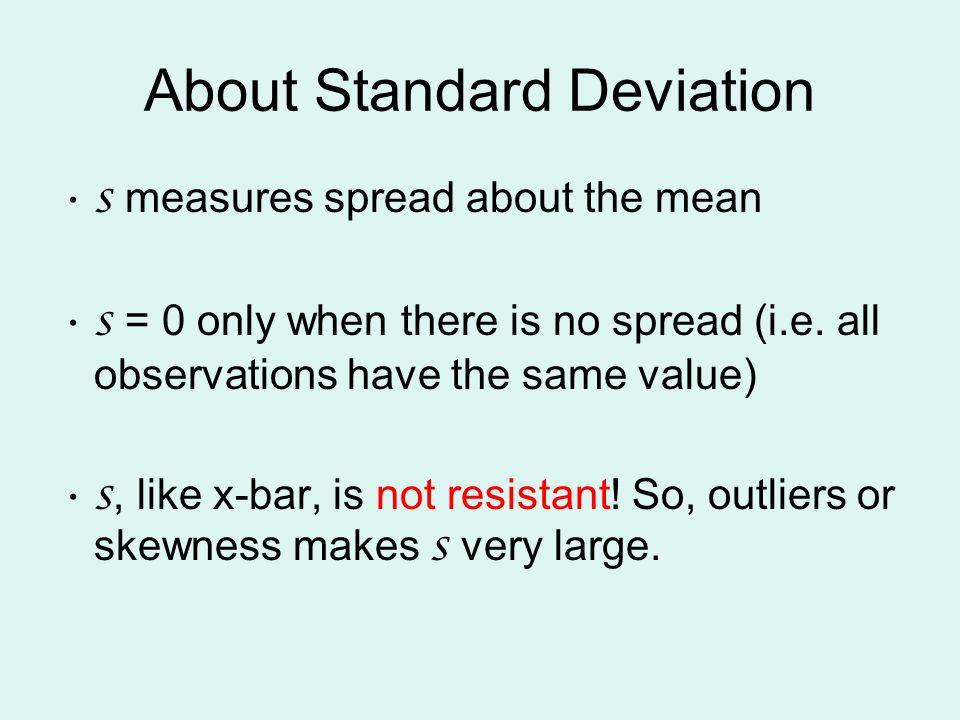 About Standard Deviation