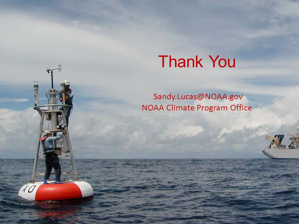 Thank You Sandy.Lucas@NOAA.gov NOAA Climate Program Office