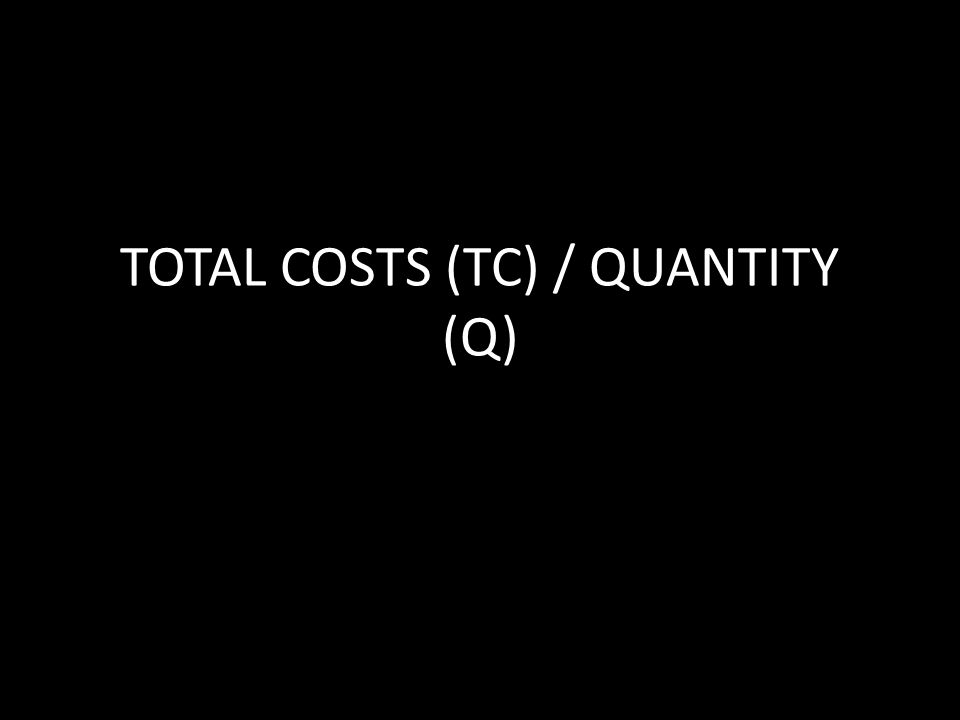 TOTAL COSTS (TC) / QUANTITY (Q)
