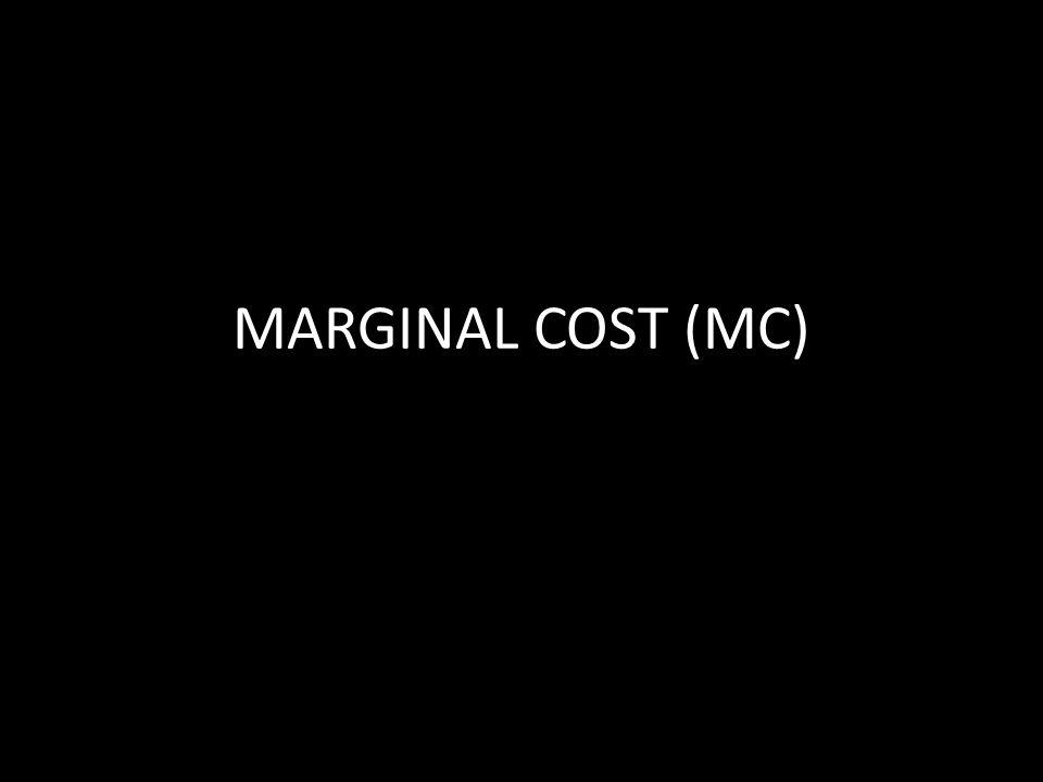 MARGINAL COST (MC)