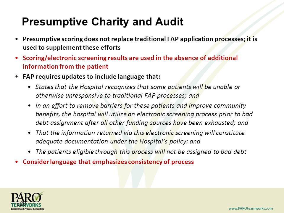 Presumptive Charity and Audit