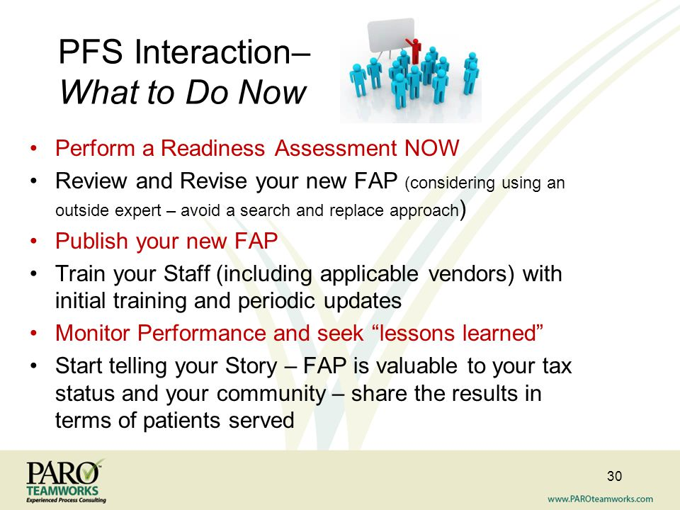 PFS Interaction– What to Do Now