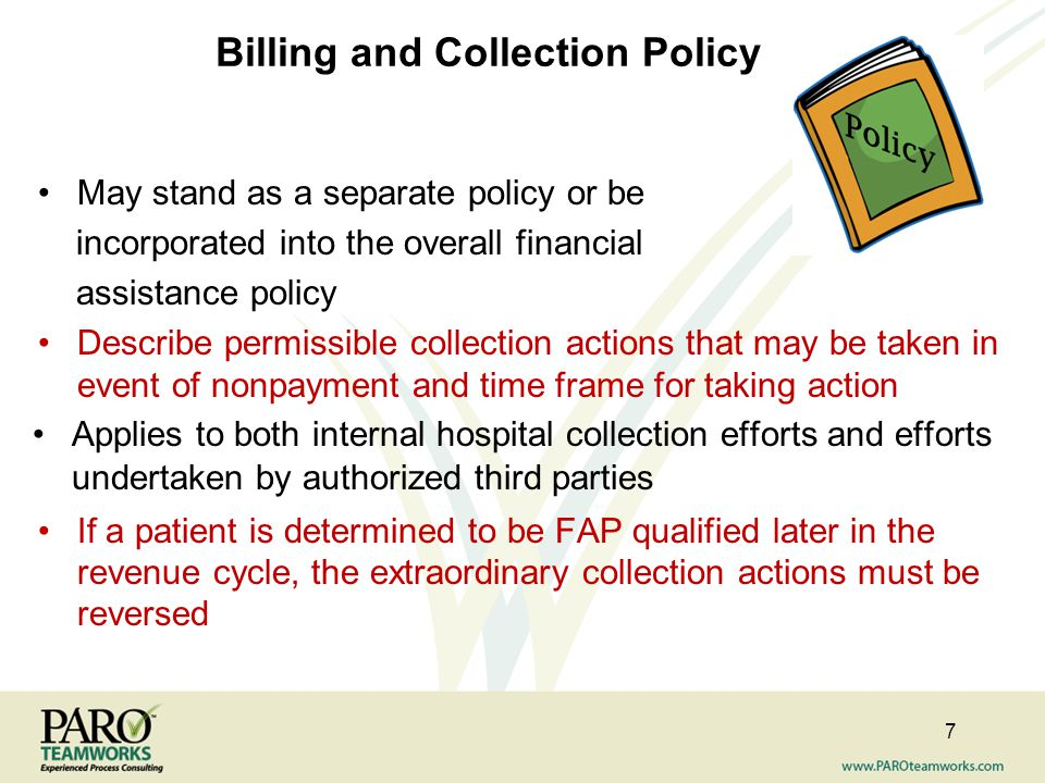 Billing and Collection Policy