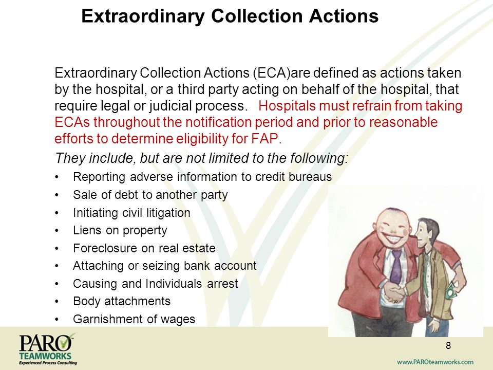 Extraordinary Collection Actions