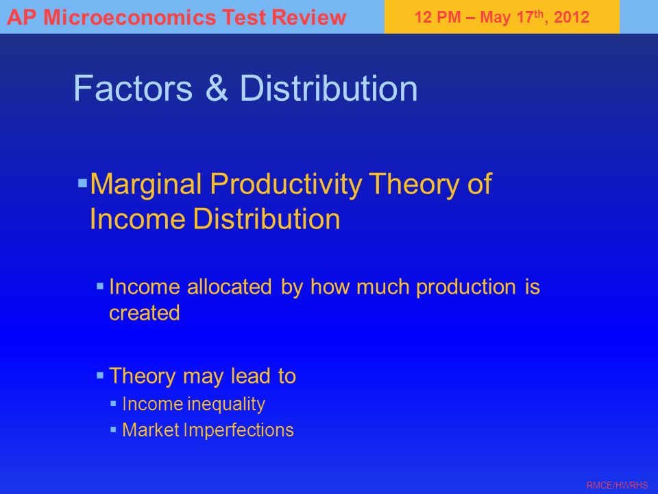 Factors & Distribution