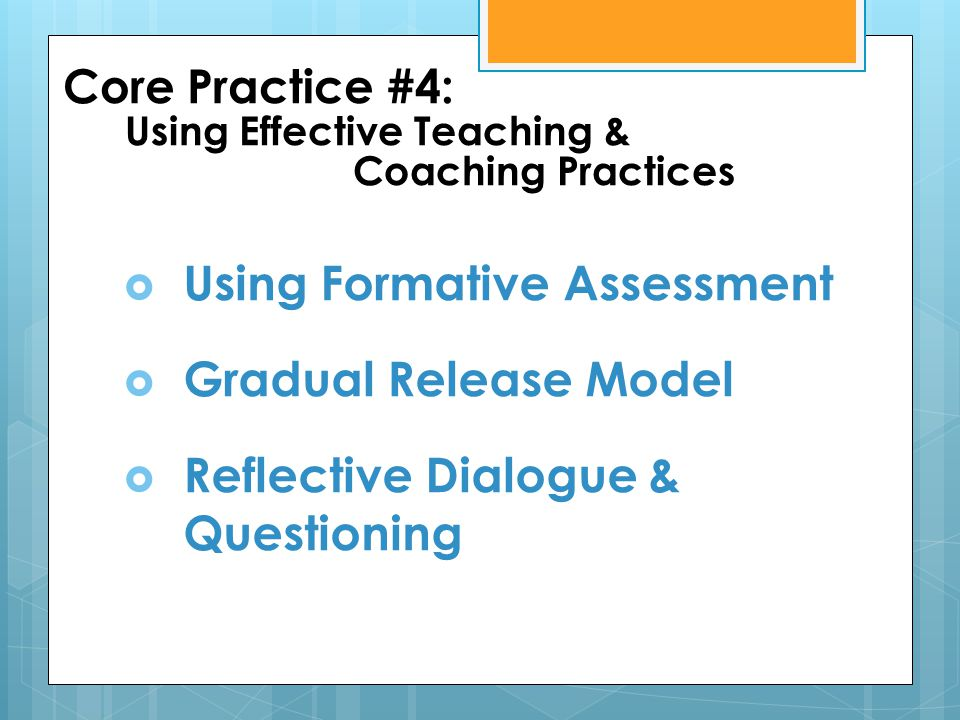 Using Formative Assessment Gradual Release Model