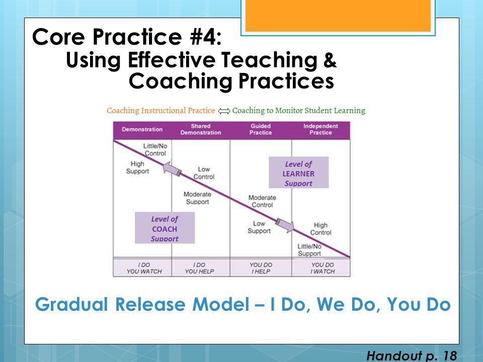 Gradual Release Model – I Do, We Do, You Do