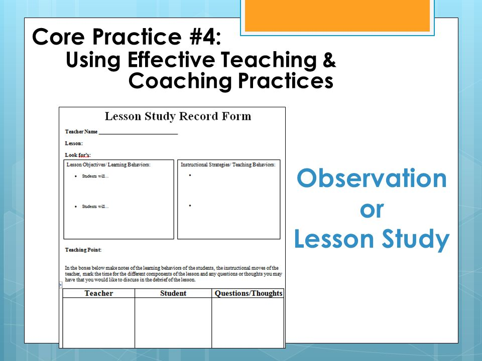 Observation or Lesson Study