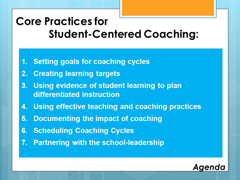 Core Practices for Student-Centered Coaching: