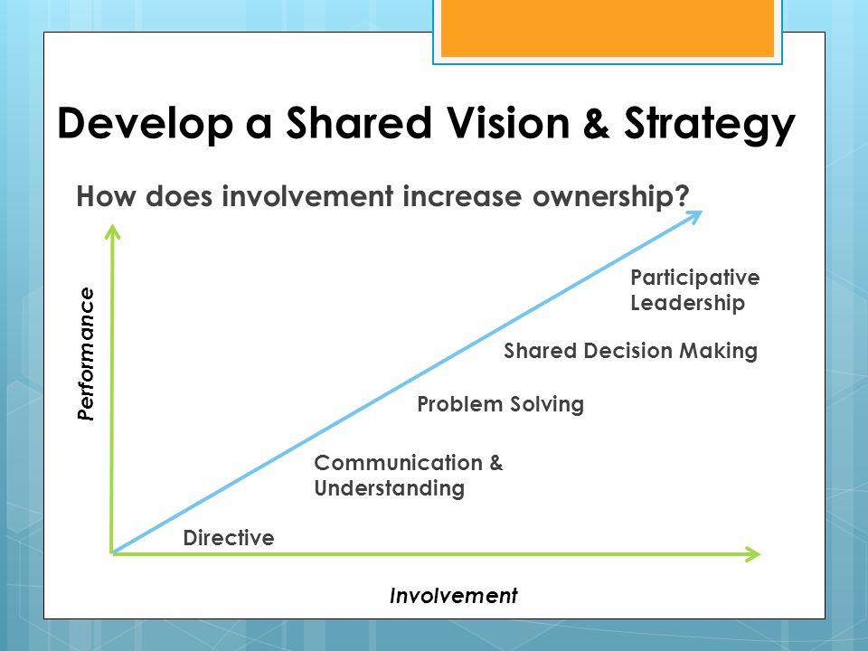 Develop a Shared Vision & Strategy